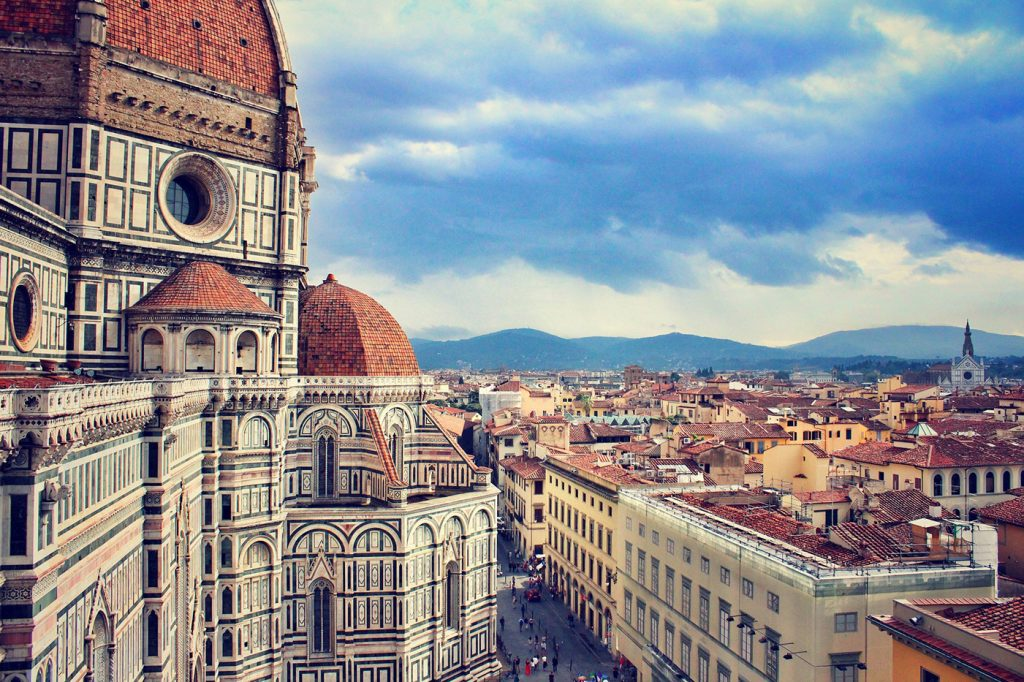Florence Duomo rooftop view across city