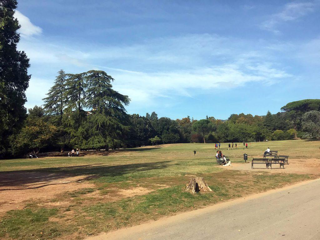 Montecatini Terme park - Parco delle Terme in Summer