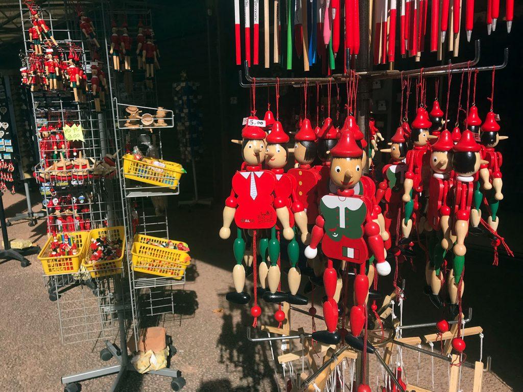 Montecatini Terme souvenir shopping on Via Pietro Grocco