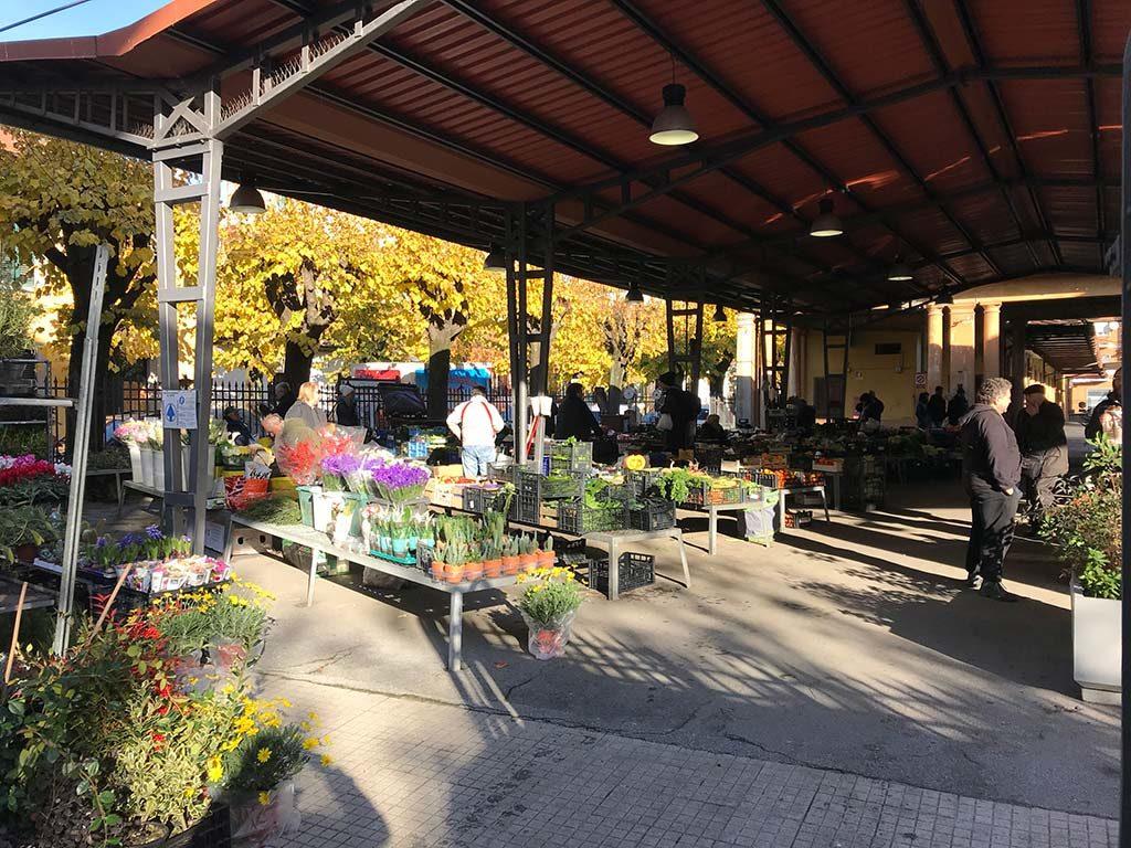 Montecatini Terme fruit veg flowers market - mercato coperto